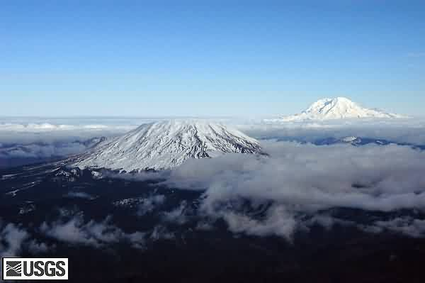 Mount St. Helens and Mount Rainier