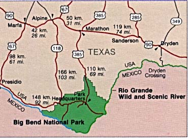 Big Bend National Park Area Map