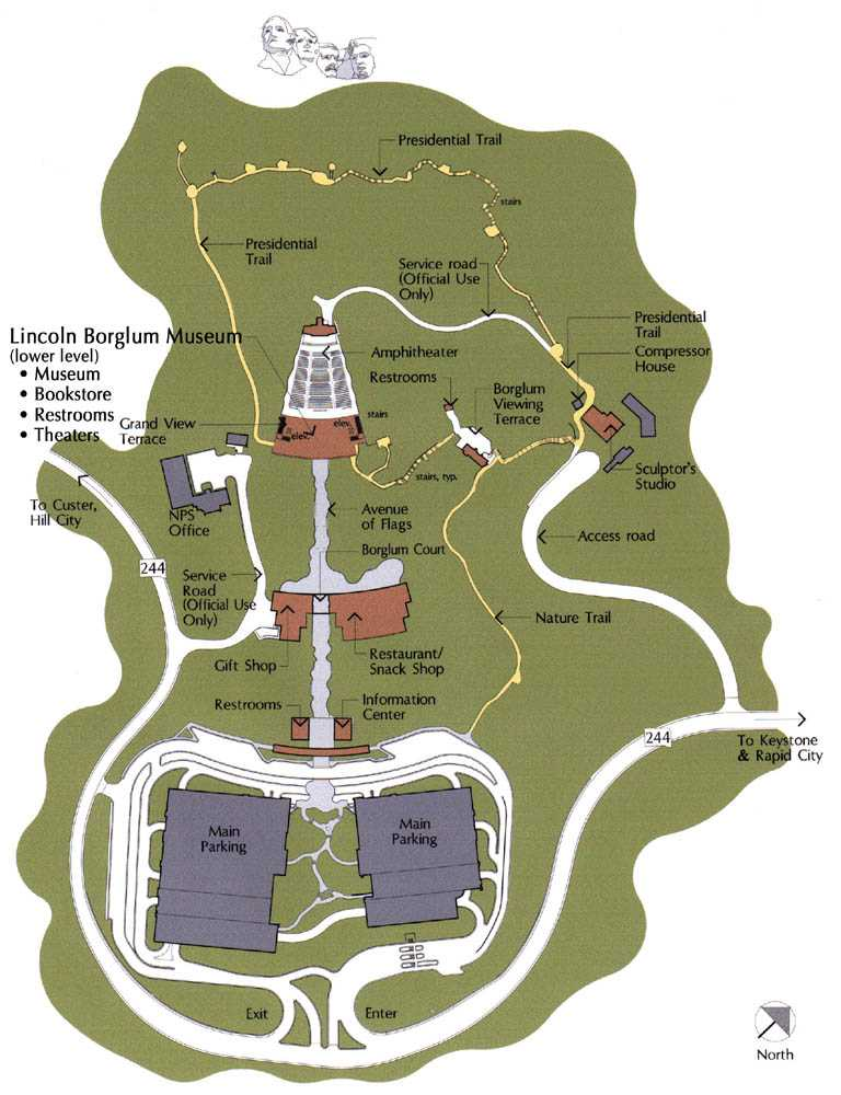 Mount Rushmore Park Map