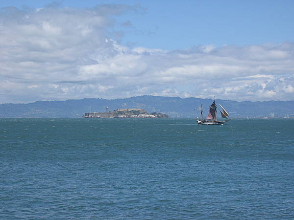 Alcatraz & Old Sailing Ship