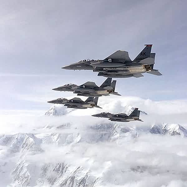 F-15's Flying Past Mount McKinley